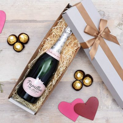 Van Louveren Papillon Non Alcoholic Blush Bubbly Hamper | Hamper World