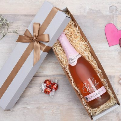 Blush Sparkling Wine & Lindt Chocolate Gift | Hamper World