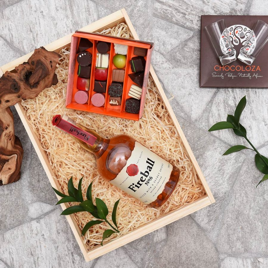 Fireball Liqueur & Chocoloza Gift Hamper | Hamper World