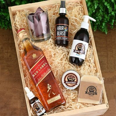 Beard Boys Hamper With Johnnie Walker Red | Hamper World