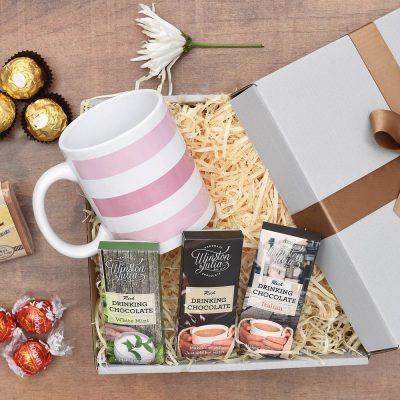 Winston & Julia Hot Chocolate & Fudge Gift Hamper | Hamper World