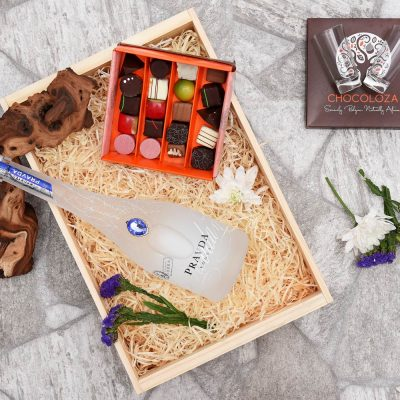 Pravda Vodka & Chocoloza Chocolate Hamper | Hamper World