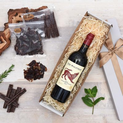 Biltong & Wolftrap Red Wine Hamper | Hamper World