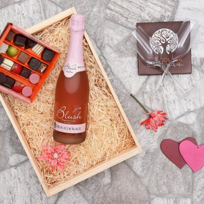 Chocoloza & Bon Courage Blush Romantic Gift Hamper | Hamper World