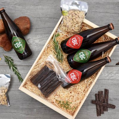 CBC Craft Beer Crate With Biltong & Nuts | Hamper World