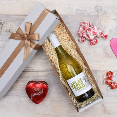 Splattered Toad White Wine Hamper & Sweets | Hamper World