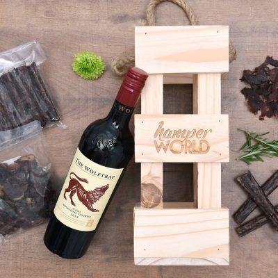 Wolftrap Wine Gift With Droe Wors & Biltong | Hamper World