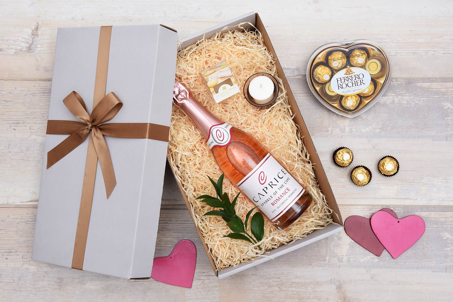 Caprice Romance Gift With Candle Amp Chocolates Hamper World