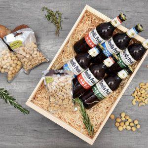 Devil's Peak Beer Crate with Nuts | Hamper World