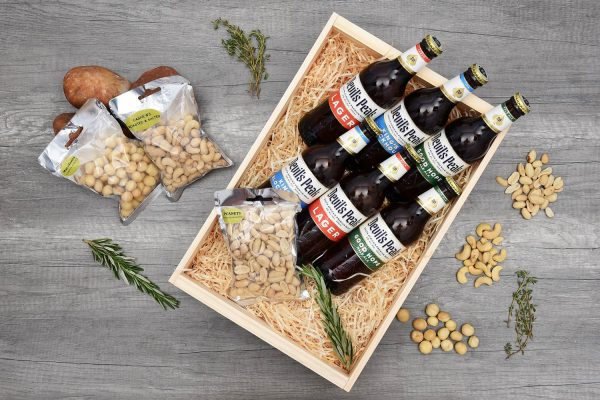 Devil's Peak Beer Crate with Nuts | Hamper World