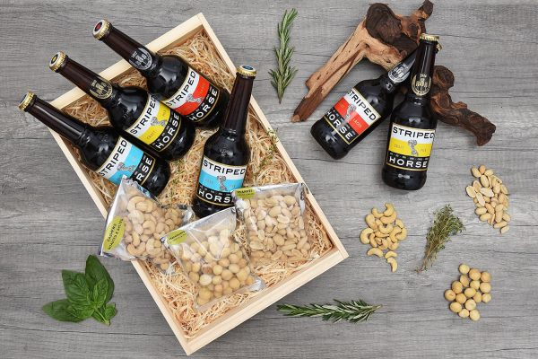 Striped Horse Craft Beer Crate With Snacks | Hamper World