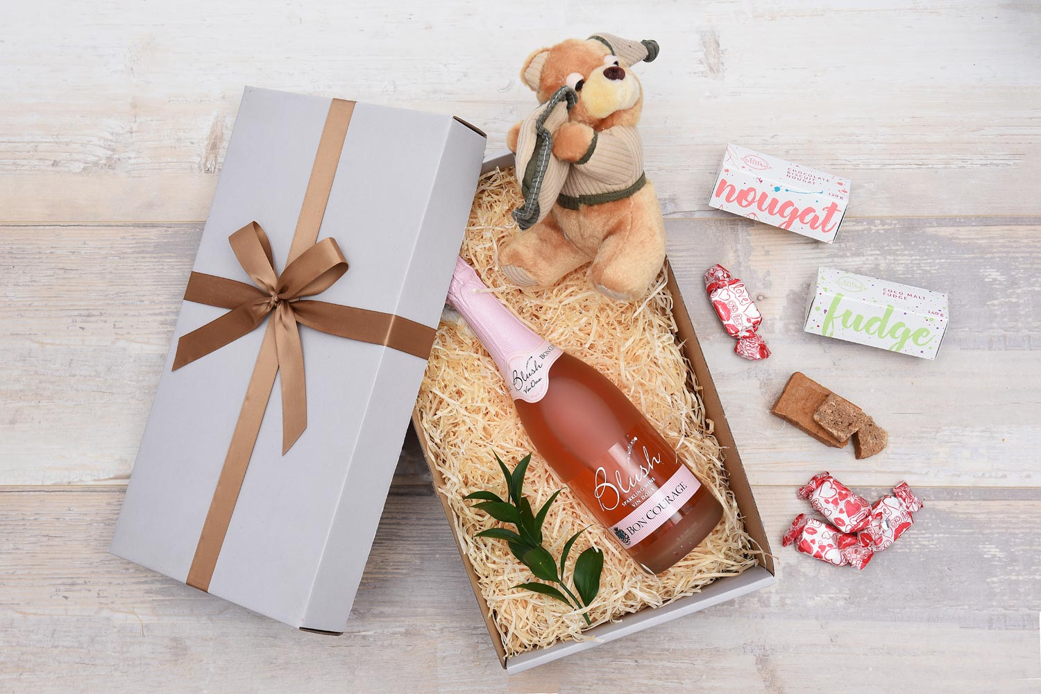 Bon Courage Blush & Sweets Romantic Gift | Hamper World