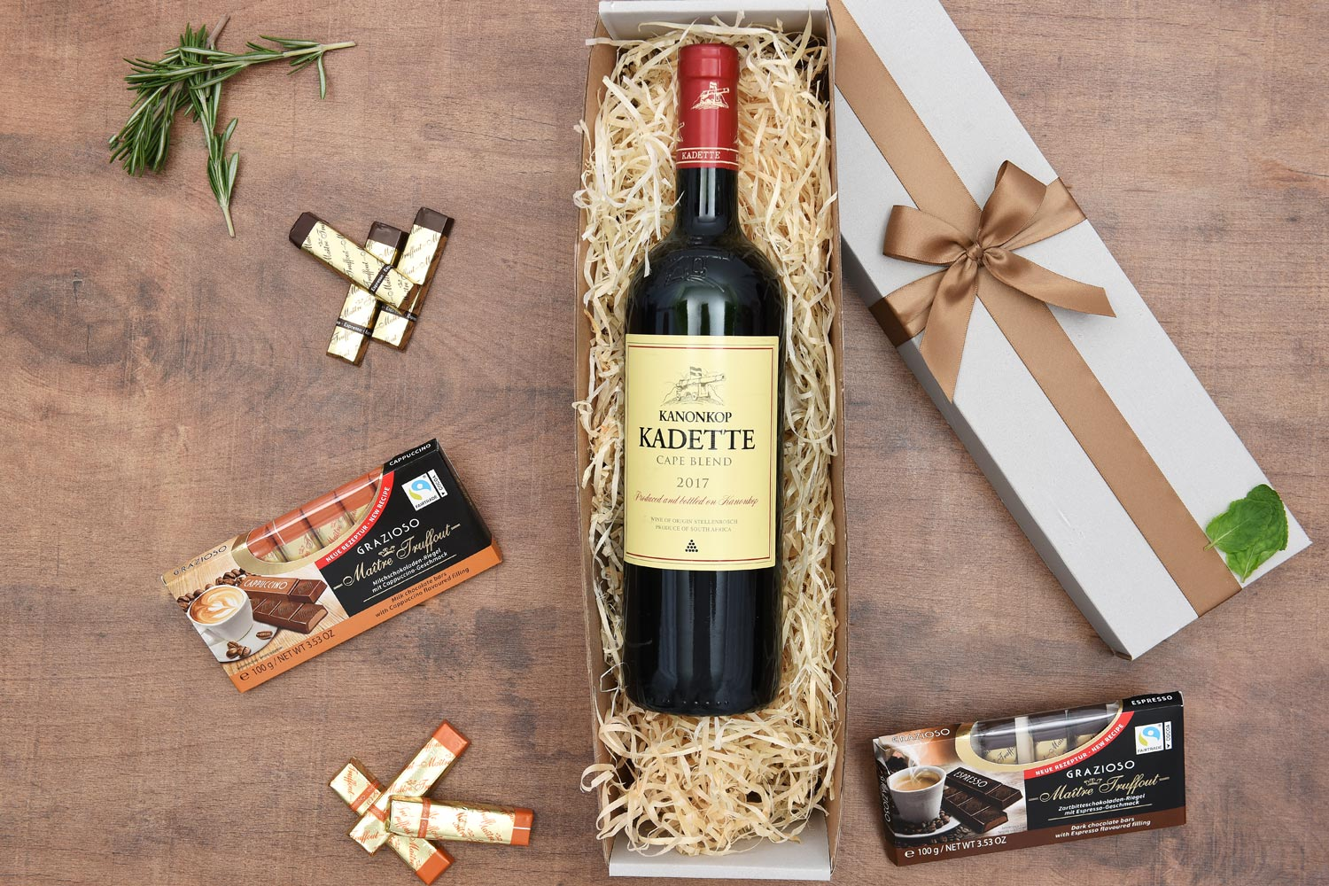 Red Wine Gift Hamper - Kanonkop Kadette & Chocolates | Hamper World