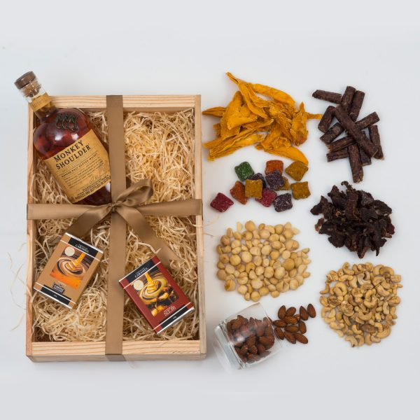 Monkey Shoulder Whisky Gift - Chocolates & Snacks | Hamper World