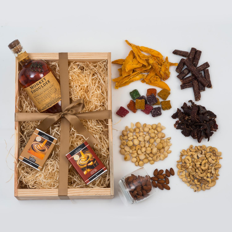 Monkey Shoulder Whisky Gift - Chocolates & Snacks   Hamper World