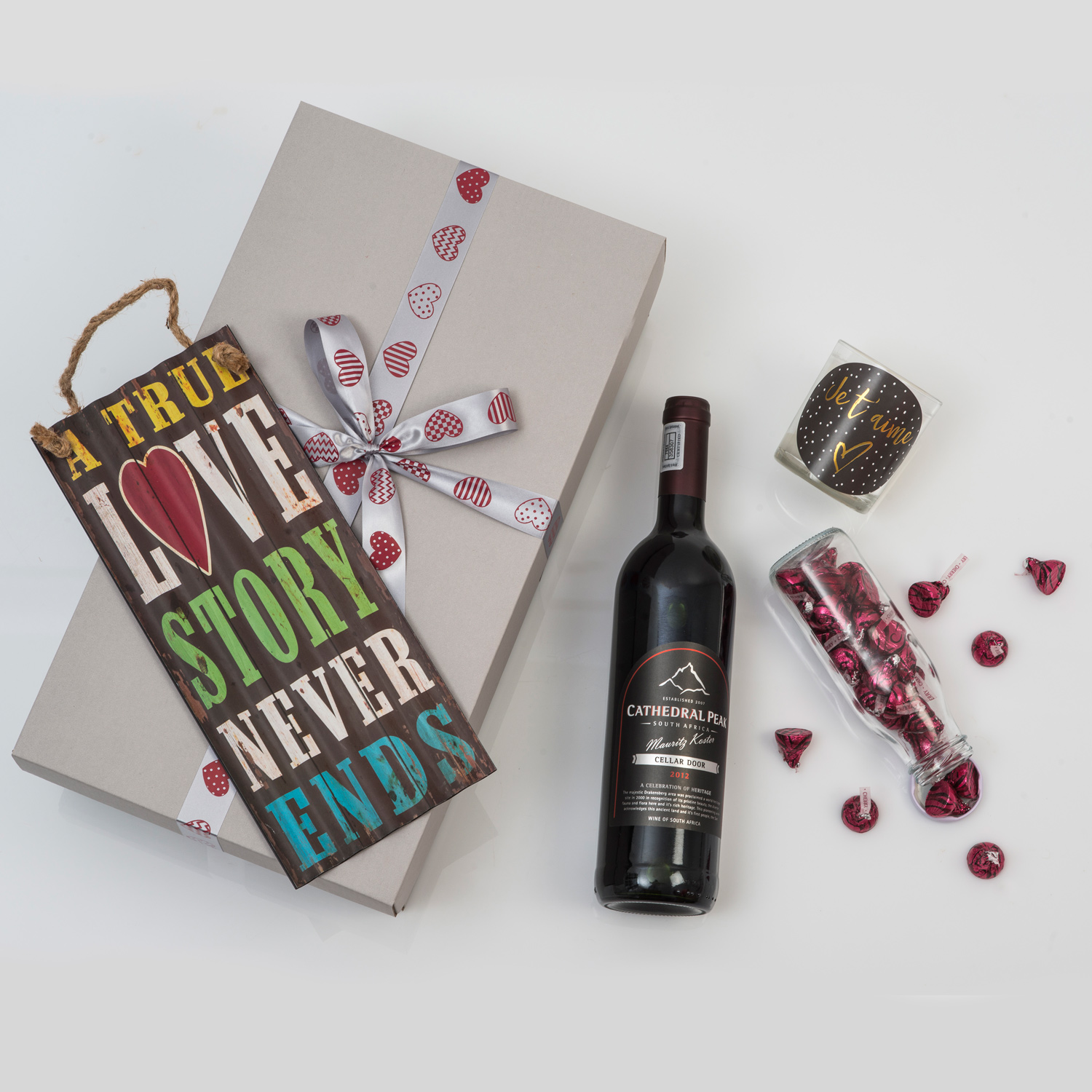 Boutique wine gift candle chocolates hamper world for Next day wine gifts