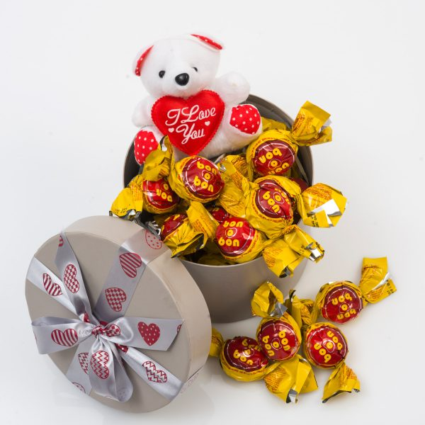 Romantic Gift - Teddy And Chocolates | Hamper World