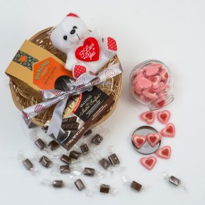 Sweets Hamper with Teddy, Chocolates & Toffee | Hamper World