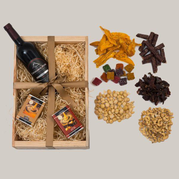 Boutique Red Wine Gift Hamper With Snacks | Hamper World