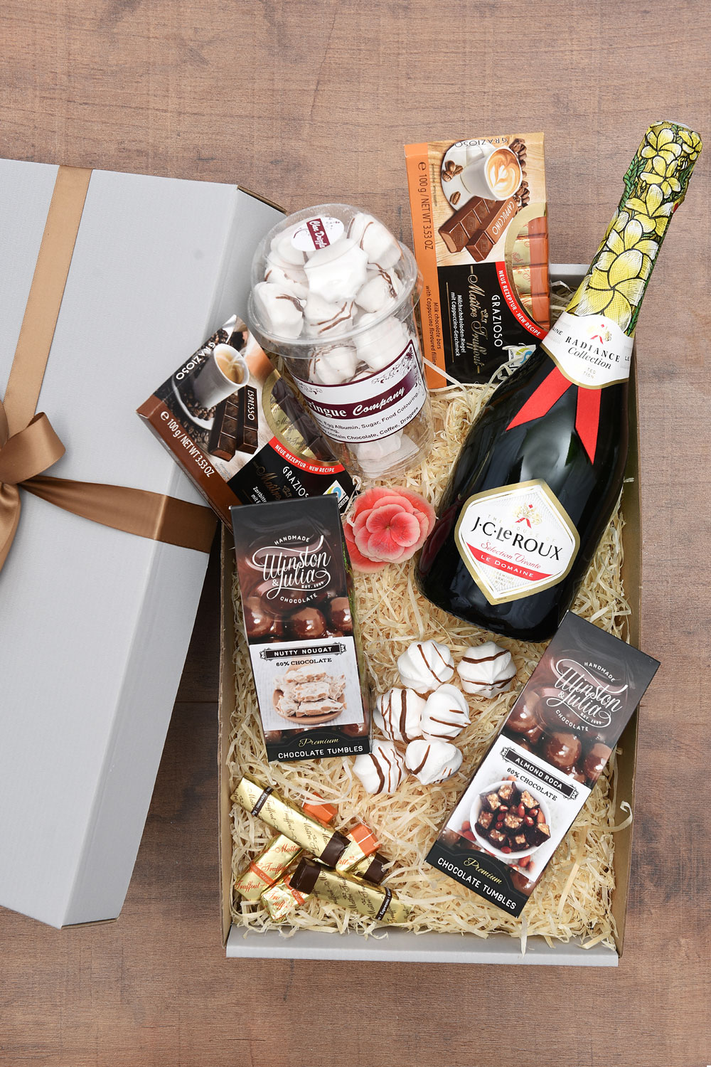 Delicious Chocolate Gift Hamper with Bubbly   Hamper World