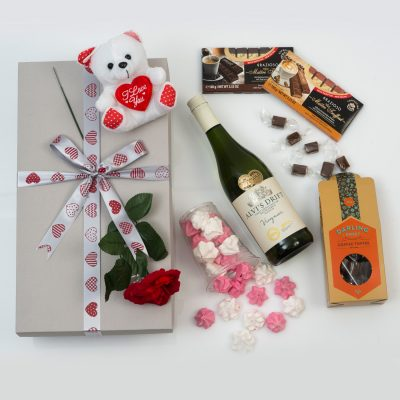 White Wine, Teddy & Sweets Gift | Hamper World