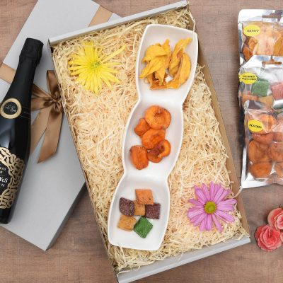 Carrol Boyes Bubbly Gift & Dried Fruit Snacks | Hamper World