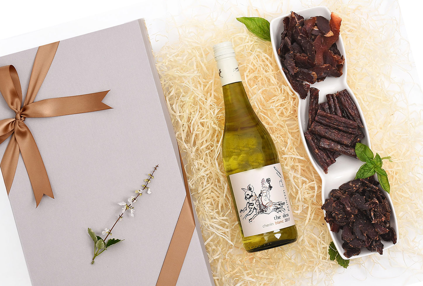 Painted Wolf Chenin Blanc With Biltong & Snacks | Hamper World