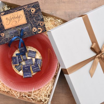 Homeware Gift - Glass Bowl & Chocolates | Hamper World