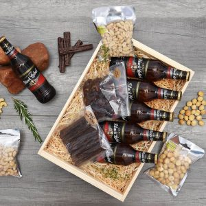 Black Label Beer Gift With Snacks | Hamper World