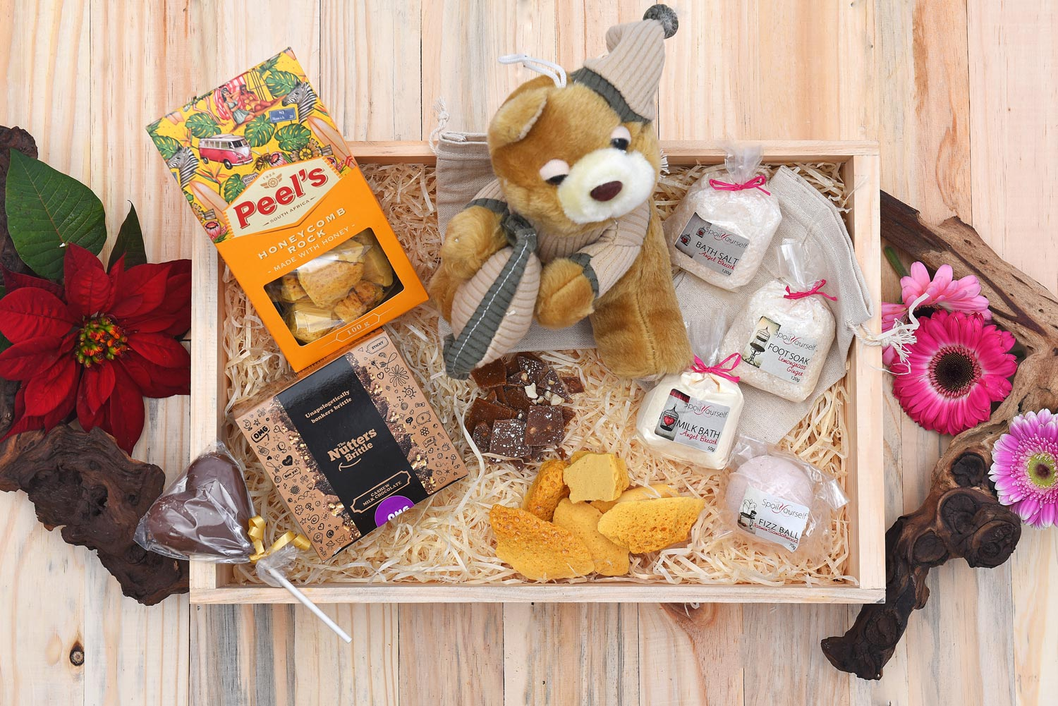 Baby Announcements Sleepy-Teddy-Pamper-Hamper-Sweets-Gift