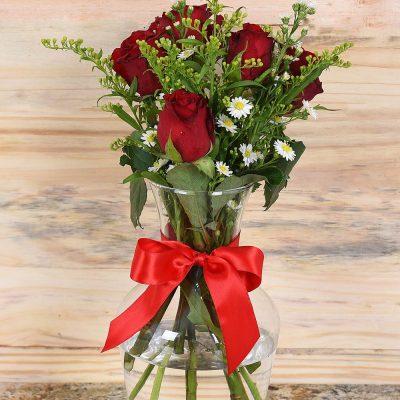 Beautiful Flower Bouquet in Vase | Hamper World Florist
