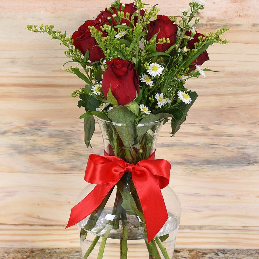 Beautiful Flower Bouquet in Vase | Hamper World Florist