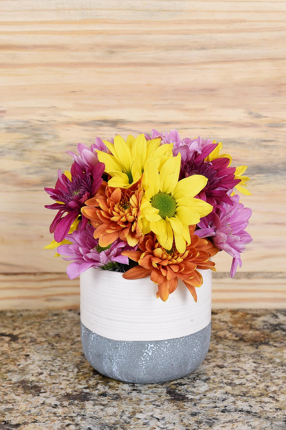 Colourful Flower Pot - Range Of Bright Flowers | Hamper World Florist