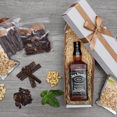 Jack Daniels No 7 With Biltong & Nuts Gift Hamper | Hamper World