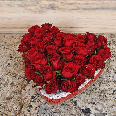 Red Roses Heart - 36 Red Roses | Hamper World Florist