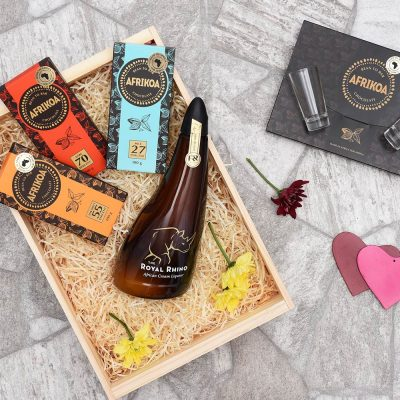 The Royal Rhino Liqueur & Afrikoa Gift Hamper | Hamper World