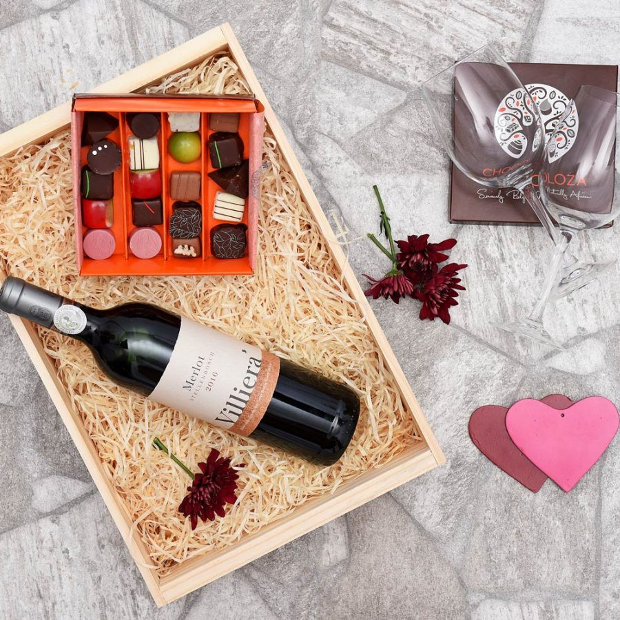 Chocoloza & Villiera Merlot Wine Hamper | Hamper World