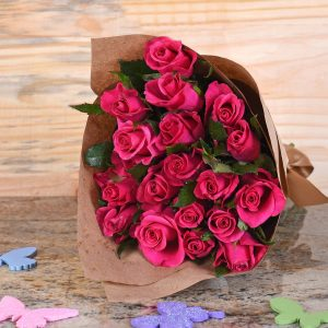 Gorgeous Cerise Roses Bouquet | Hamper World Florist