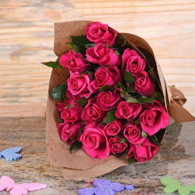 Gorgeous Cerise Roses Bouquet | Hamper World Florist