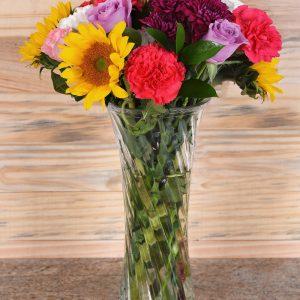 Carla's Roses & Flowers in Vase | Hamper World Florist