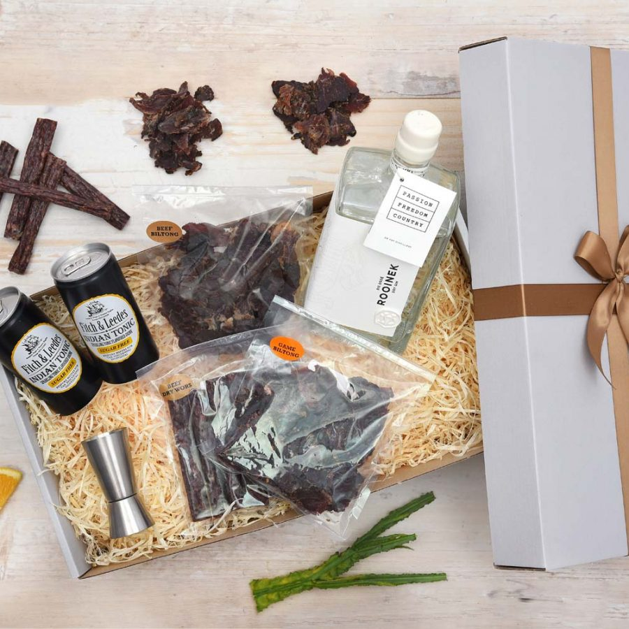 Dry Gin Gift Hamper With Biltong Snacks | Hamper World
