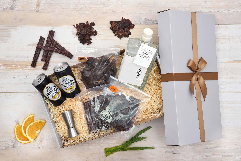 Dry Gin Gift Hamper With Biltong Snacks | Hamper World