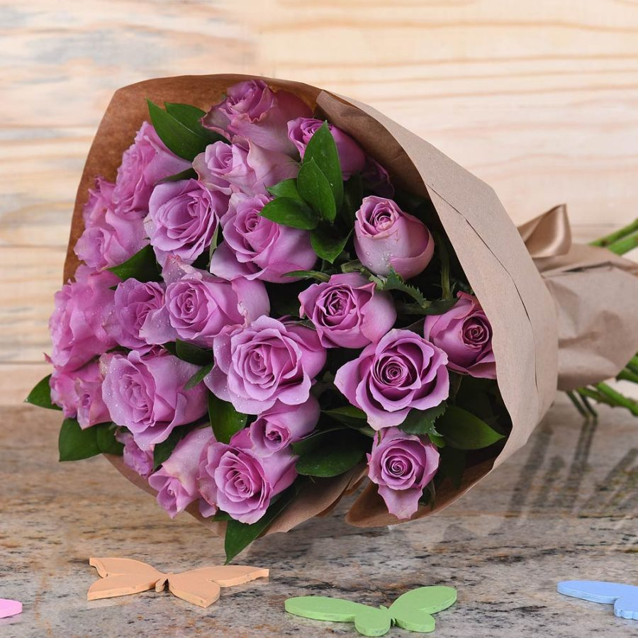 Gorgeous Bouquet Of Lilac Roses | Hamper World Florist