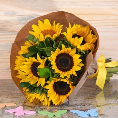 Stunning Bouquet Of Sunflowers | Hamper World Florist