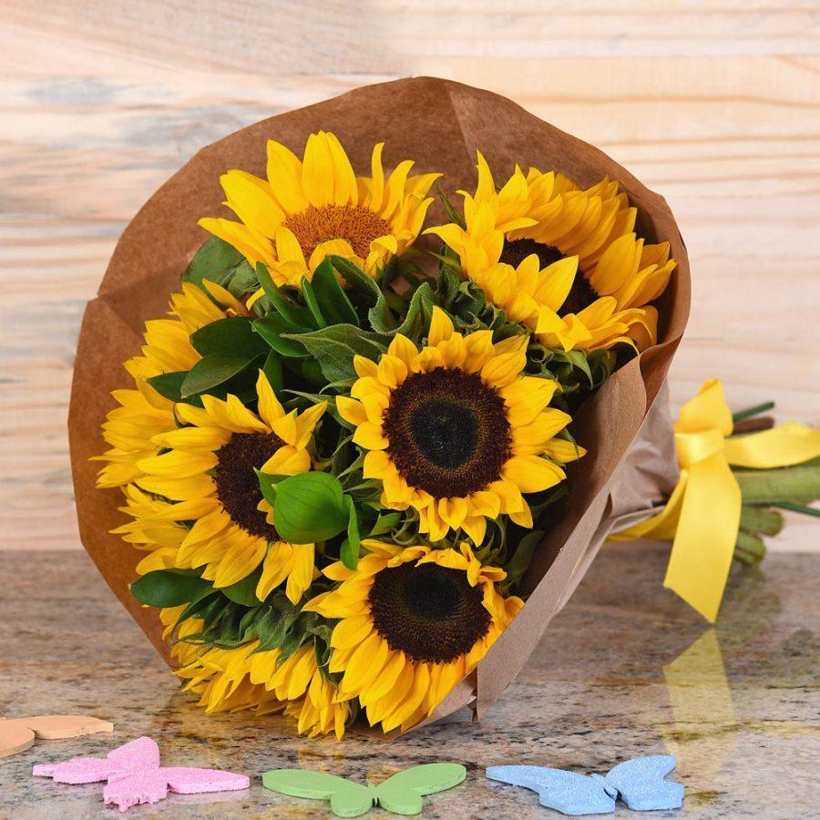 Sunflower-Bouquet-Hamper-World-Florist