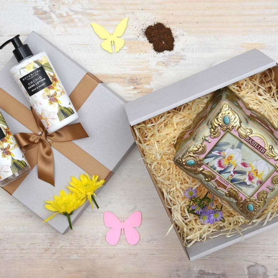 Basilur Tea & Orchid Pamper Hamper | Hamper World