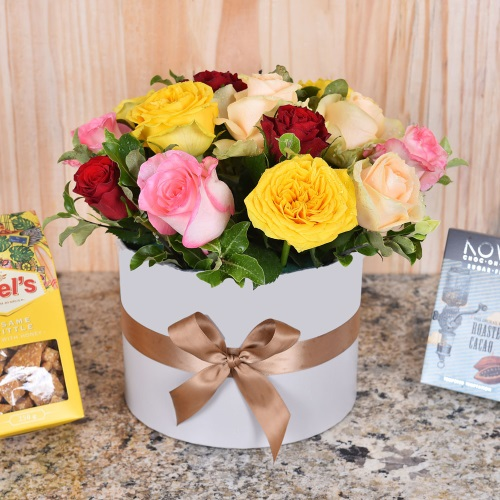 Unique Mother's Day Gifts Mixed Roses Gift Sweets Hamper World