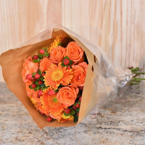 Unique Mother's Day Gifts Orange Roses Flower Bouquet Hamper World