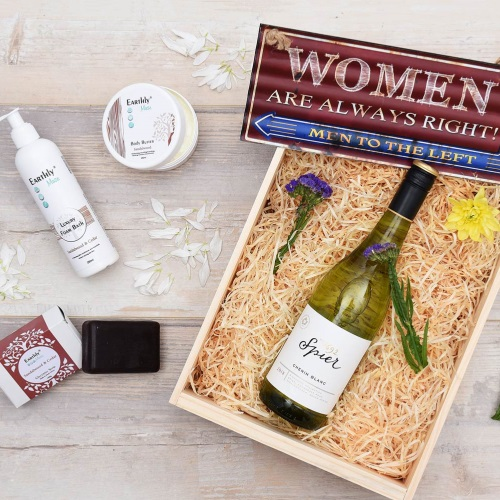 Unique Mother's Day Gifts Wine Earthly Muse Pamper Hamper World