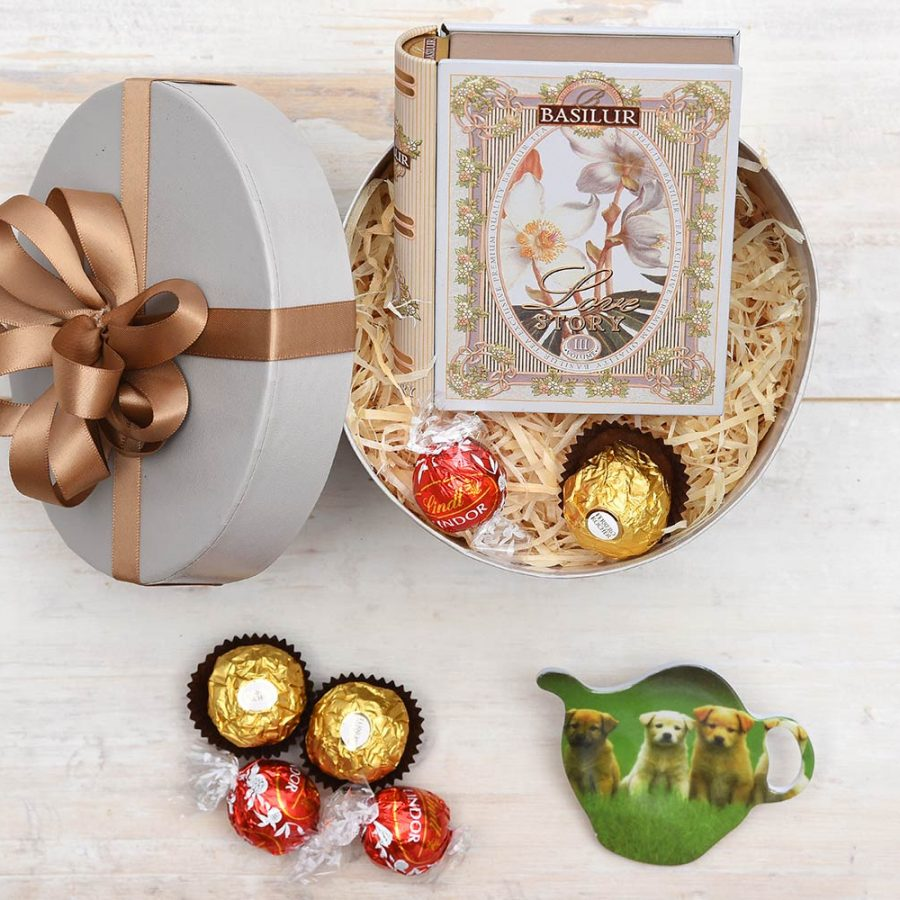 Basilur Tea & Ferrero Rocher Chocolate Gift | Hamper World
